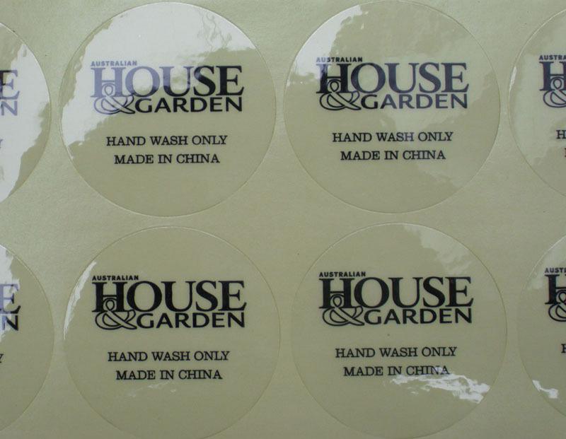 Transparent Sticker Printing Round Sticker Waterproof Vinyl